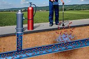 איתור נזילות מים בגז